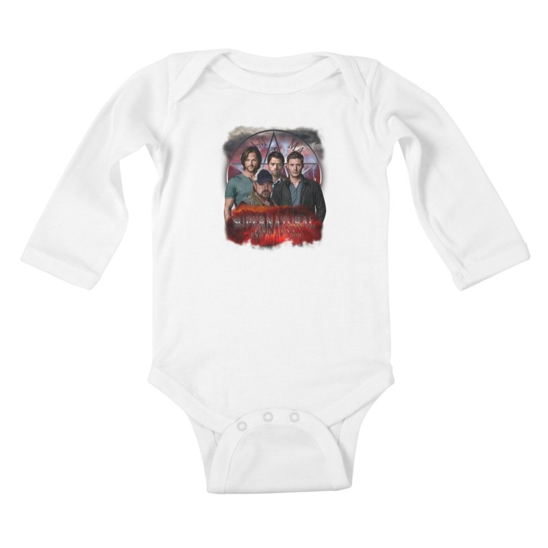 Supernatural Family dont end with blood 4C9 Kids Baby Longsleeve Bodysuit by ratherkool's Artist Shop