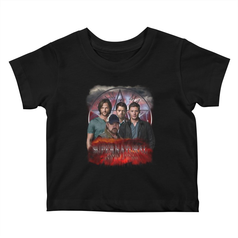 Supernatural Family dont end with blood 4C9 Kids Baby T-Shirt by ratherkool's Artist Shop