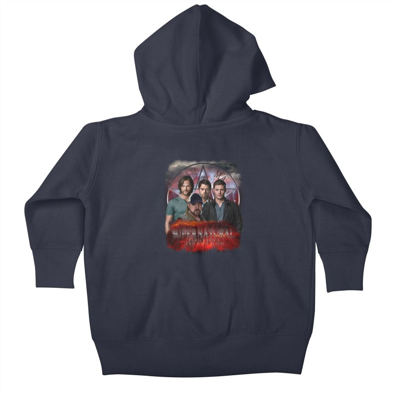 Supernatural Family dont end with blood 4C9 Kids Baby Zip-Up Hoody by ratherkool's Artist Shop