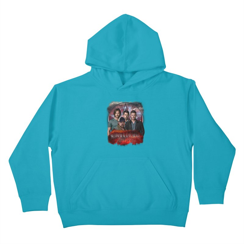 Supernatural Family dont end with blood 4C9 Kids Pullover Hoody by ratherkool's Artist Shop