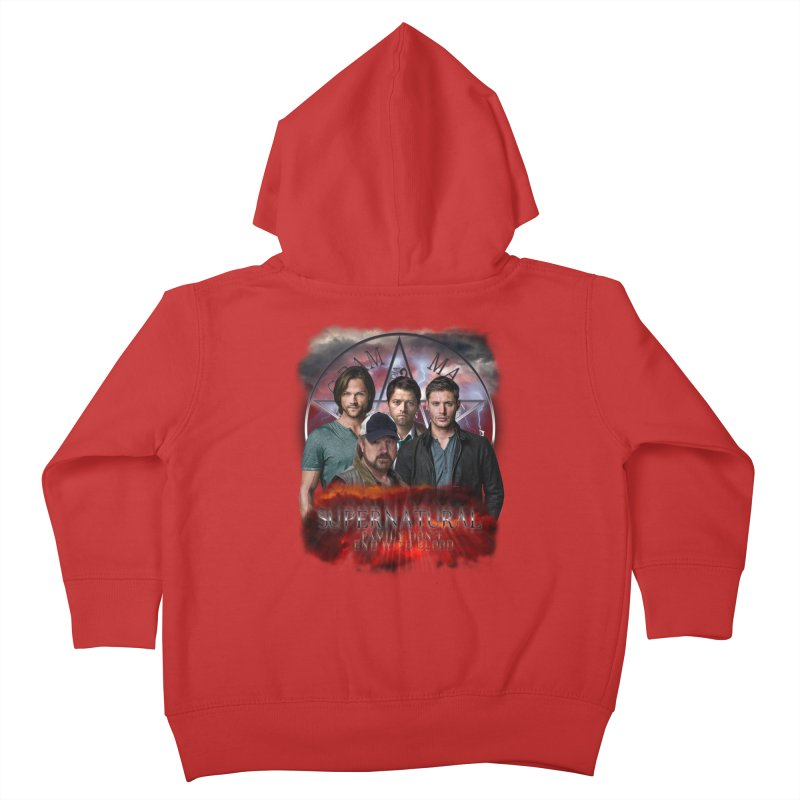 Supernatural Family dont end with blood 4C9 Kids Toddler Zip-Up Hoody by ratherkool's Artist Shop