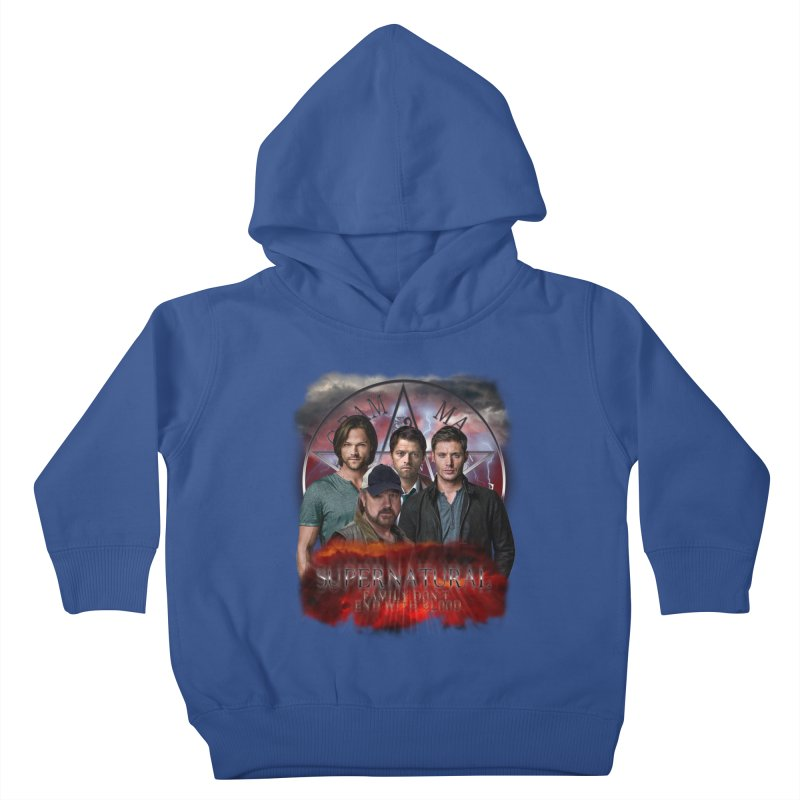Supernatural Family dont end with blood 4C9 Kids Toddler Pullover Hoody by ratherkool's Artist Shop