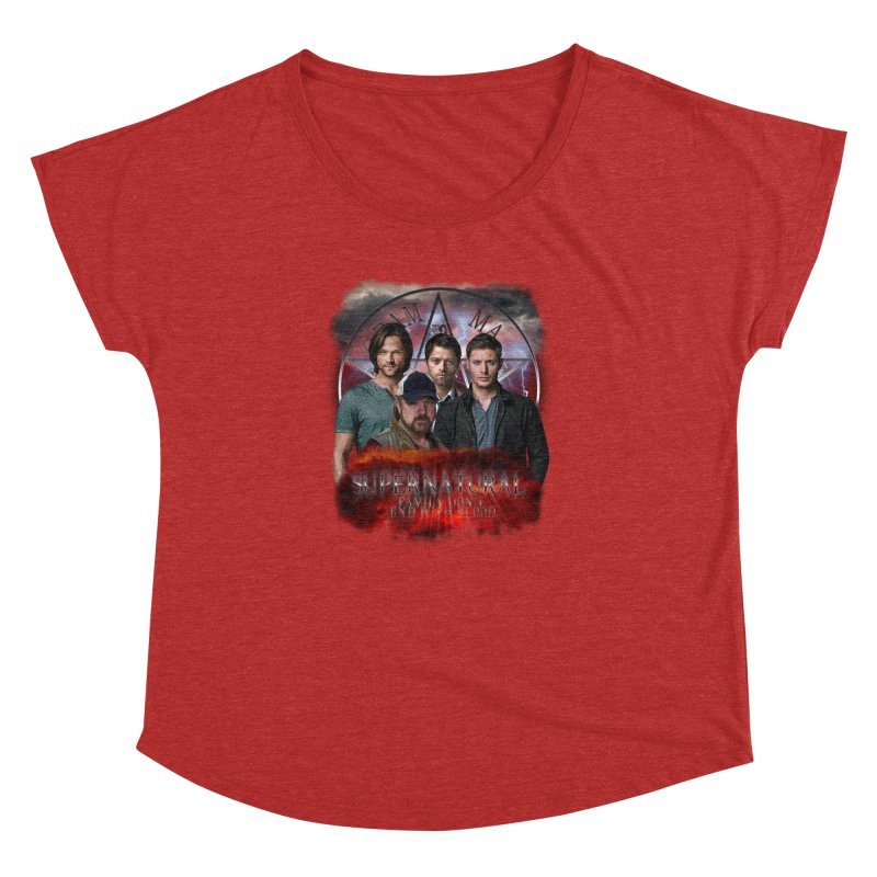 Supernatural Family dont end with blood 4C9 Women's Dolman by ratherkool's Artist Shop