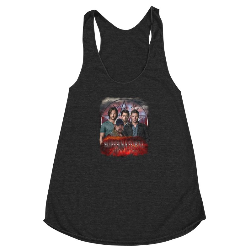 Supernatural Family dont end with blood 4C9 Women's Racerback Triblend Tank by ratherkool's Artist Shop