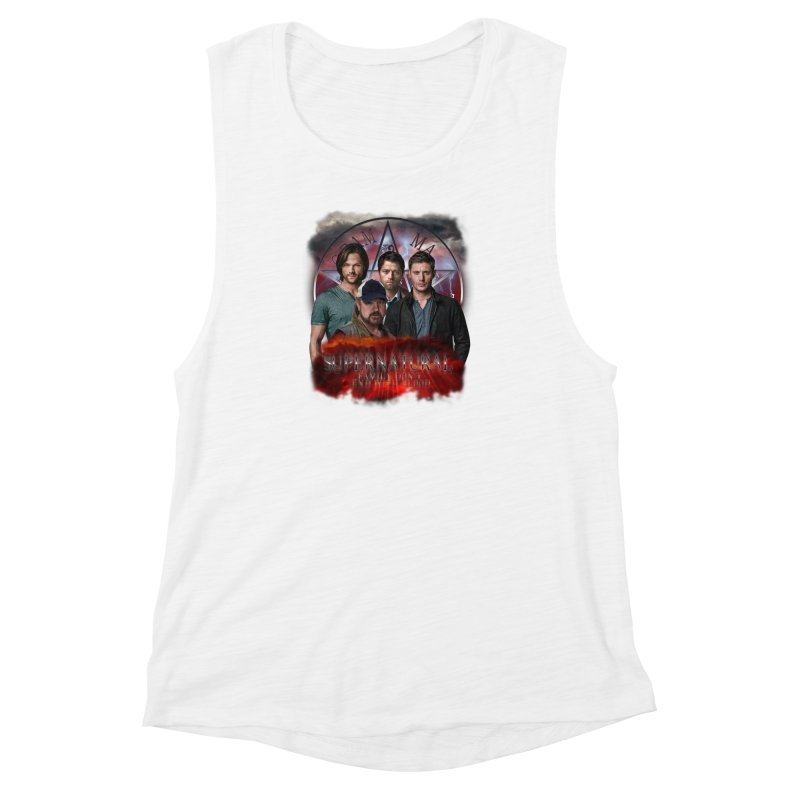 Supernatural Family dont end with blood 4C9 Women's Muscle Tank by ratherkool's Artist Shop