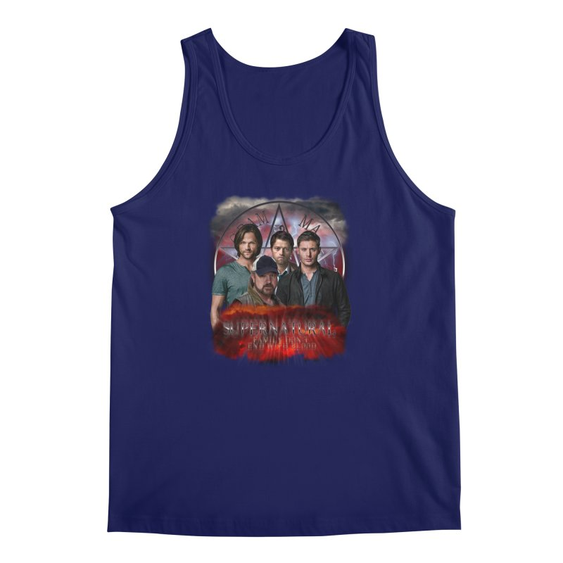 Supernatural Family dont end with blood 4C9 Men's Tank by ratherkool's Artist Shop