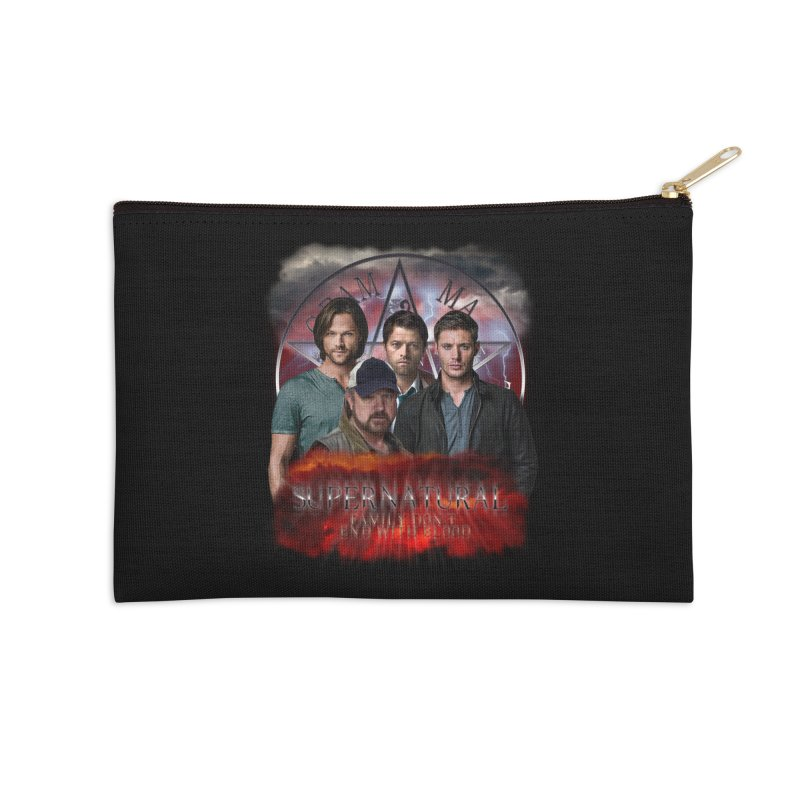 Supernatural Family dont end with blood 4C9 Accessories Zip Pouch by ratherkool's Artist Shop