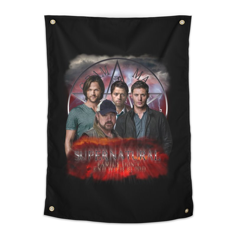 Supernatural Family dont end with blood 4C9 Home Tapestry by ratherkool's Artist Shop