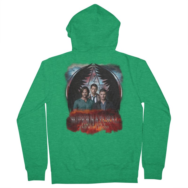 Supernatural Family Dont end with blood C9 Men's Zip-Up Hoody by ratherkool's Artist Shop