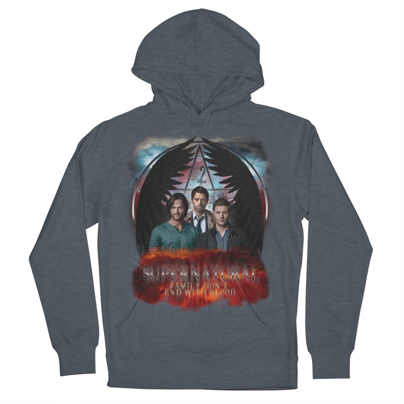 Supernatural Family Dont end with blood C9 Men's Pullover Hoody by ratherkool's Artist Shop