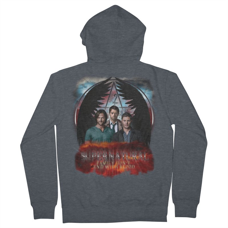 Supernatural Family Dont end with blood C9 Women's Zip-Up Hoody by ratherkool's Artist Shop
