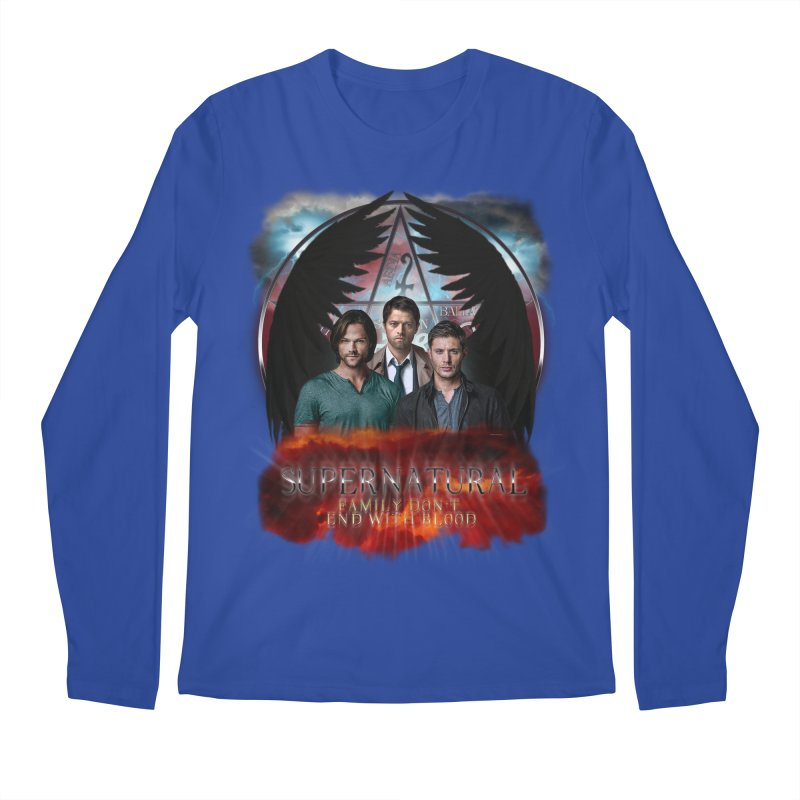 Supernatural Family Dont end with blood C9 Men's Longsleeve T-Shirt by ratherkool's Artist Shop