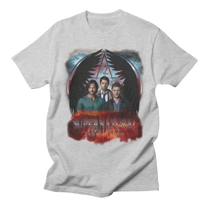 Supernatural Family Dont end with blood C9 Men's T-Shirt by ratherkool's Artist Shop