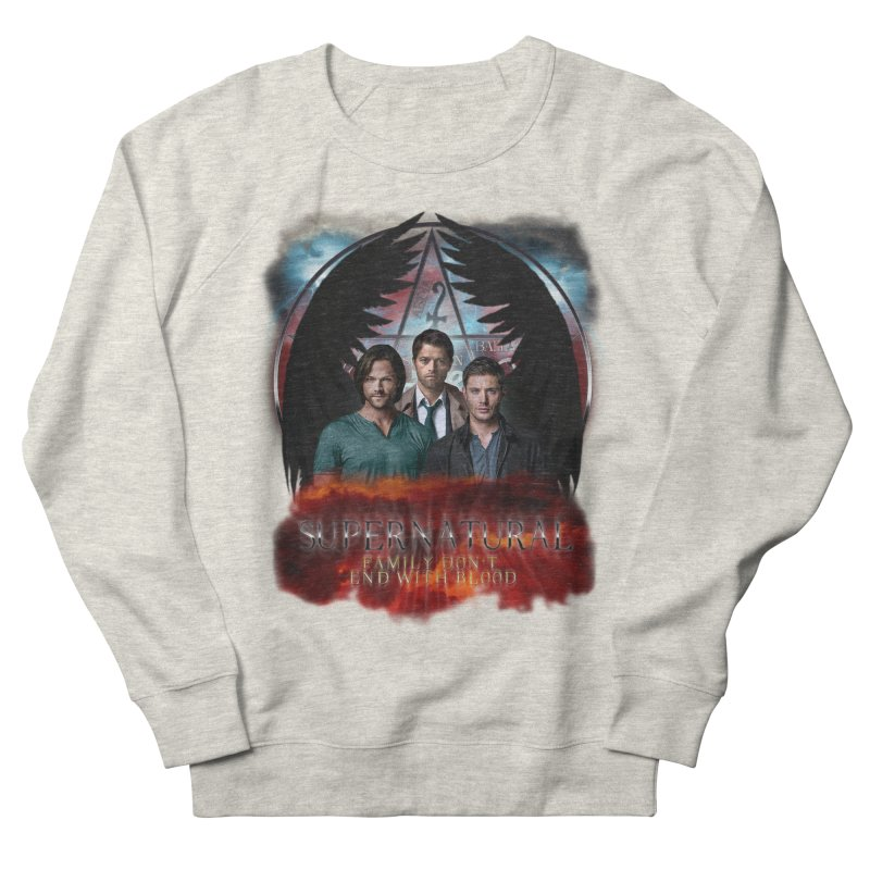 Supernatural Family Dont end with blood C9 Men's Sweatshirt by ratherkool's Artist Shop