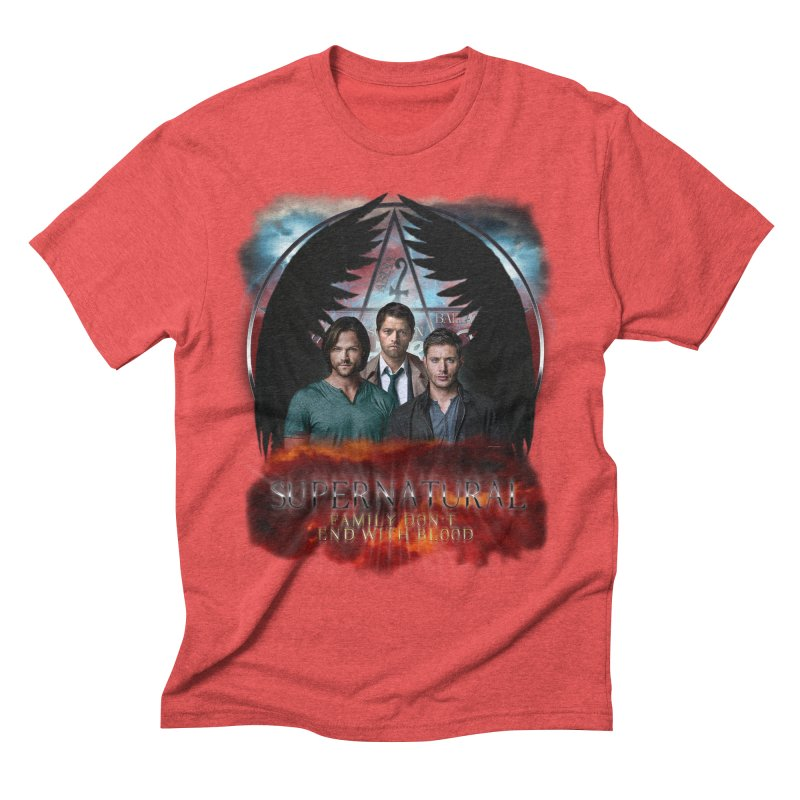 Supernatural Family Dont end with blood C9 Men's Triblend T-Shirt by ratherkool's Artist Shop