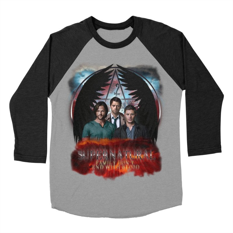 Supernatural Family Dont end with blood C9 Women's Baseball Triblend T-Shirt by ratherkool's Artist Shop