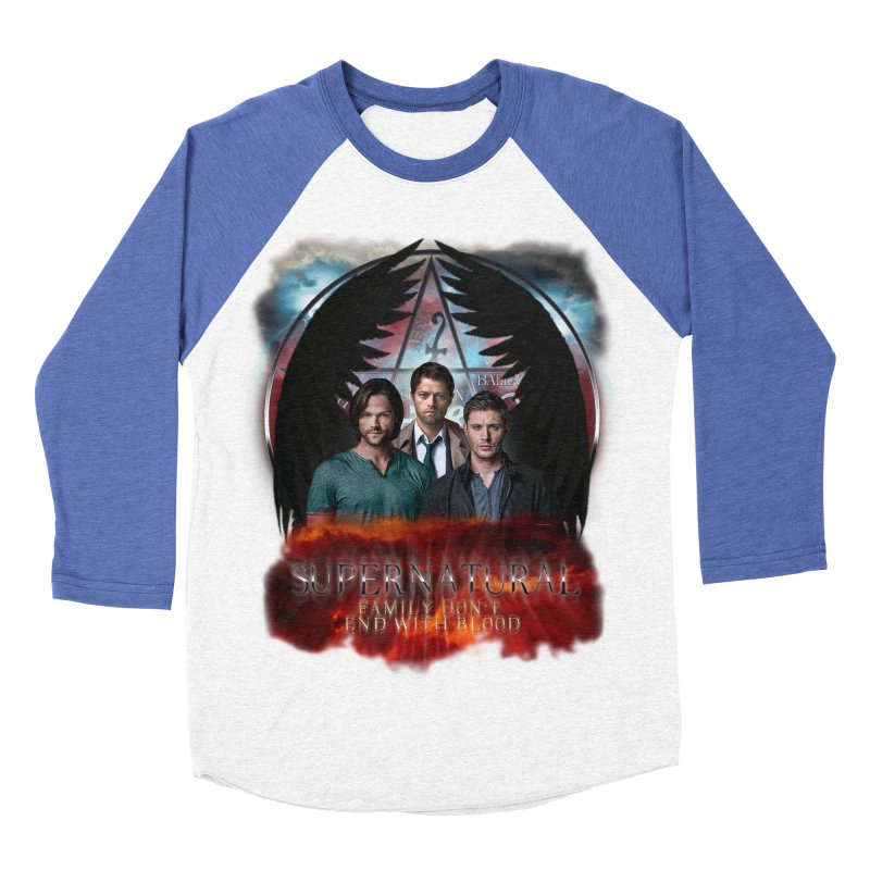 Supernatural Family Dont end with blood C9 Men's Baseball Triblend T-Shirt by ratherkool's Artist Shop