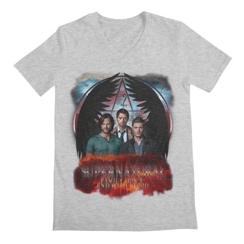 Supernatural Family Dont end with blood C9 Men's V-Neck by ratherkool's Artist Shop