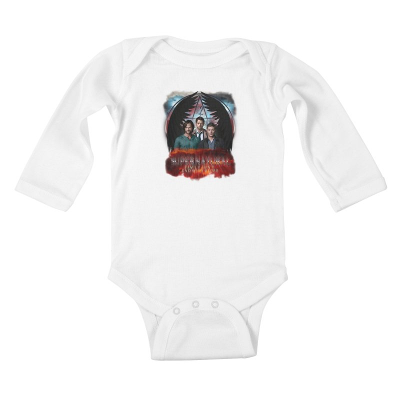 Supernatural Family Dont end with blood C9 Kids Baby Longsleeve Bodysuit by ratherkool's Artist Shop