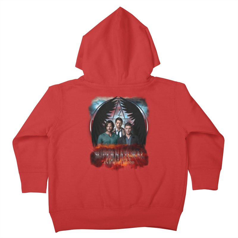 Supernatural Family Dont end with blood C9 Kids Toddler Zip-Up Hoody by ratherkool's Artist Shop