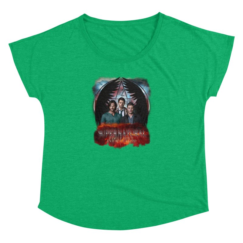 Supernatural Family Dont end with blood C9 Women's Dolman by ratherkool's Artist Shop