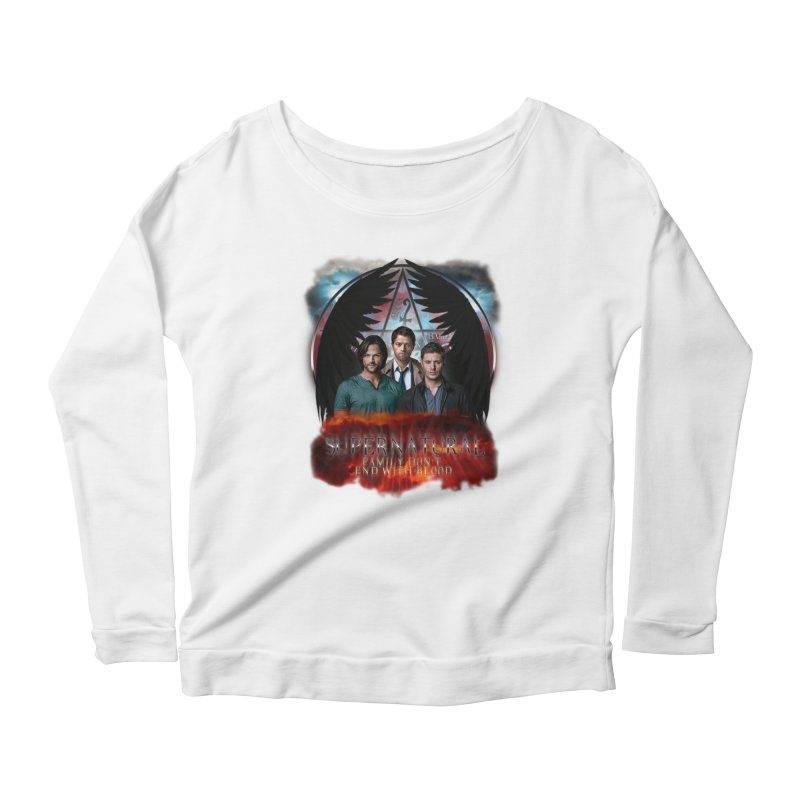 Supernatural Family Dont end with blood C9 Women's Longsleeve Scoopneck  by ratherkool's Artist Shop