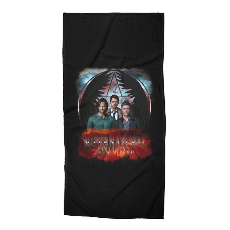 Supernatural Family Dont end with blood C9 Accessories Beach Towel by ratherkool's Artist Shop
