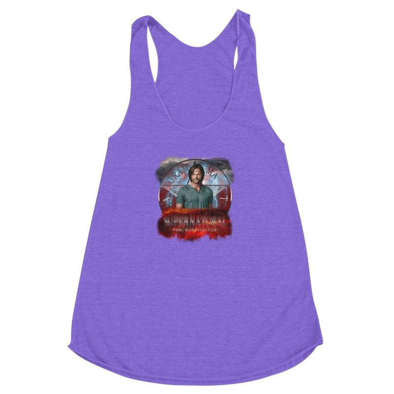 Supernatural Sam Winchester 2L Women's Racerback Triblend Tank by ratherkool's Artist Shop
