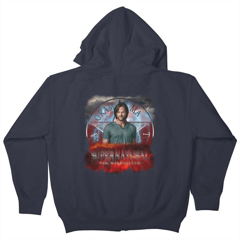 Supernatural Sam Winchester 2L Kids Zip-Up Hoody by ratherkool's Artist Shop