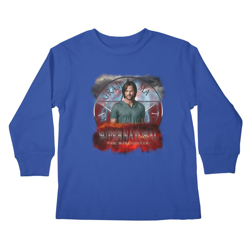 Supernatural Sam Winchester 2L Kids Longsleeve T-Shirt by ratherkool's Artist Shop
