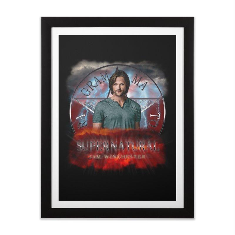 Supernatural Sam Winchester 2L Home Framed Fine Art Print by ratherkool's Artist Shop