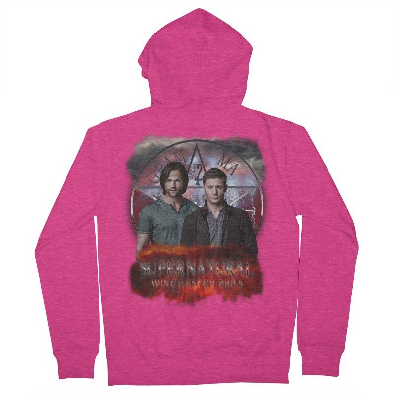 Supernatural Winchester Bros 2 Women's Zip-Up Hoody by ratherkool's Artist Shop