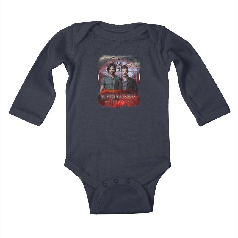 Supernatural Winchester Bros 2 Kids Baby Longsleeve Bodysuit by ratherkool's Artist Shop