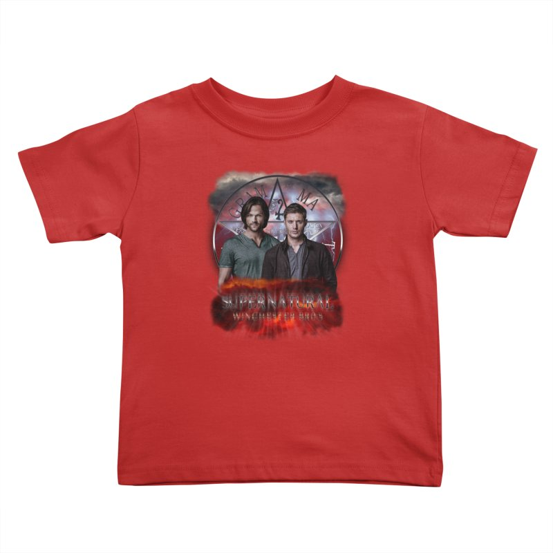 Supernatural Winchester Bros 2 Kids Toddler T-Shirt by ratherkool's Artist Shop