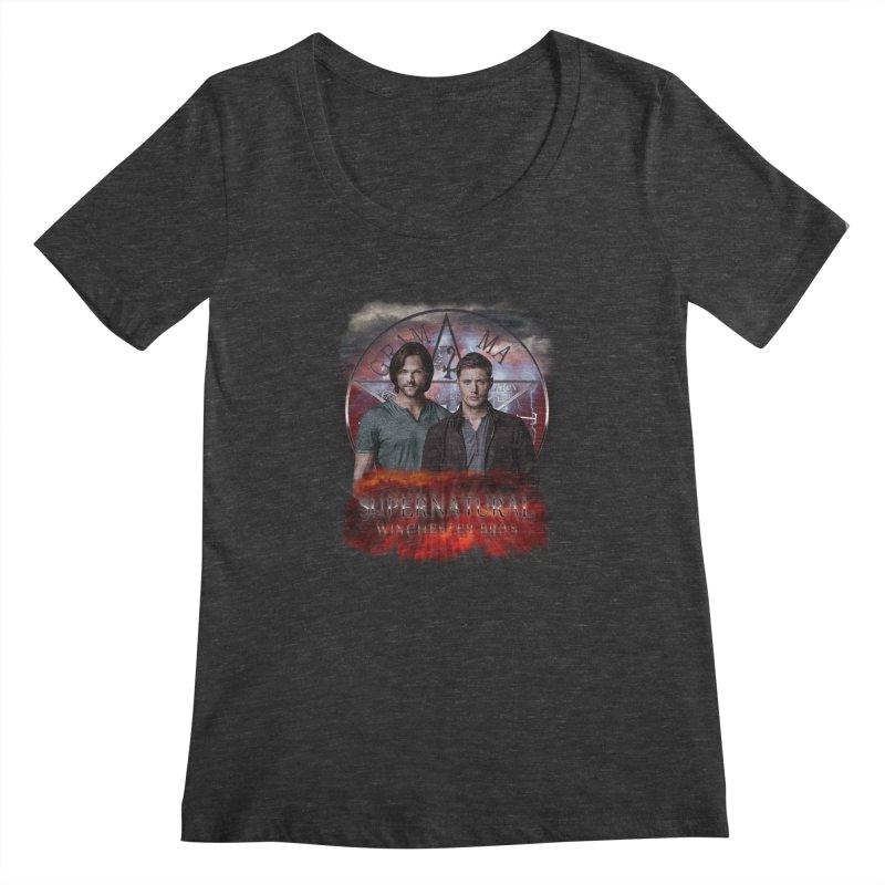 Supernatural Winchester Bros 2 Women's Scoopneck by ratherkool's Artist Shop