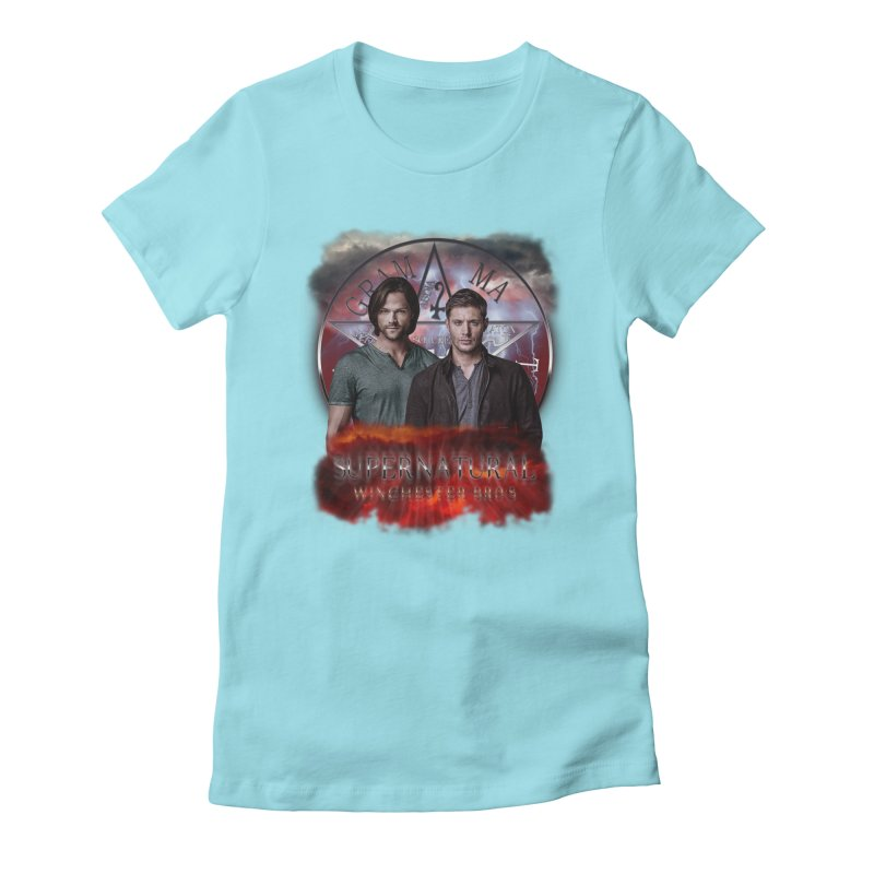 Supernatural Winchester Bros 2 Women's Fitted T-Shirt by ratherkool's Artist Shop
