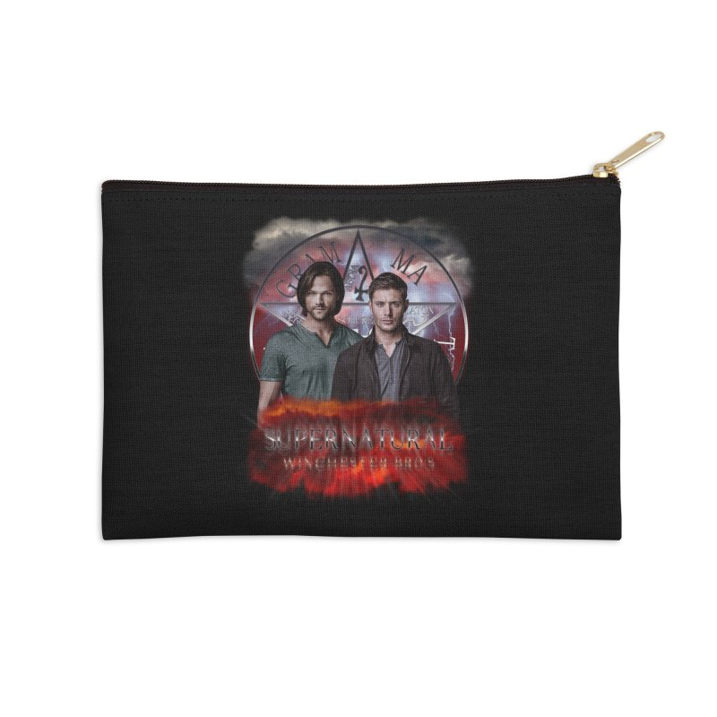 Supernatural Winchester Bros 2 Accessories Zip Pouch by ratherkool's Artist Shop