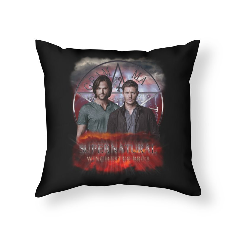 Supernatural Winchester Bros 2 Home Throw Pillow by ratherkool's Artist Shop