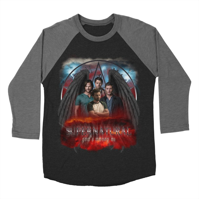 Supernatural Gods Among us 2 Women's Baseball Triblend T-Shirt by ratherkool's Artist Shop