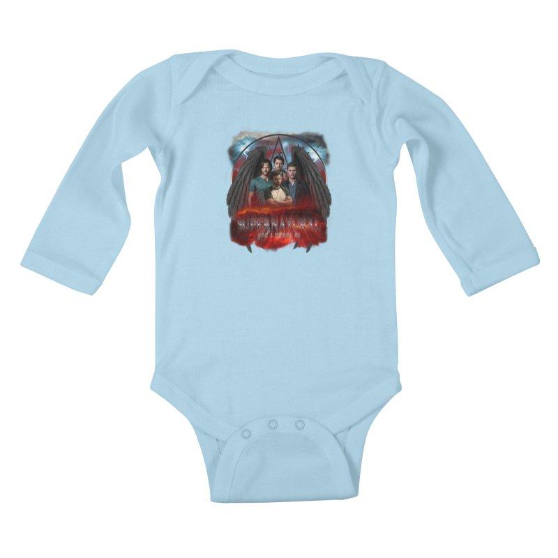 Supernatural Gods Among us 2 Kids Baby Longsleeve Bodysuit by ratherkool's Artist Shop