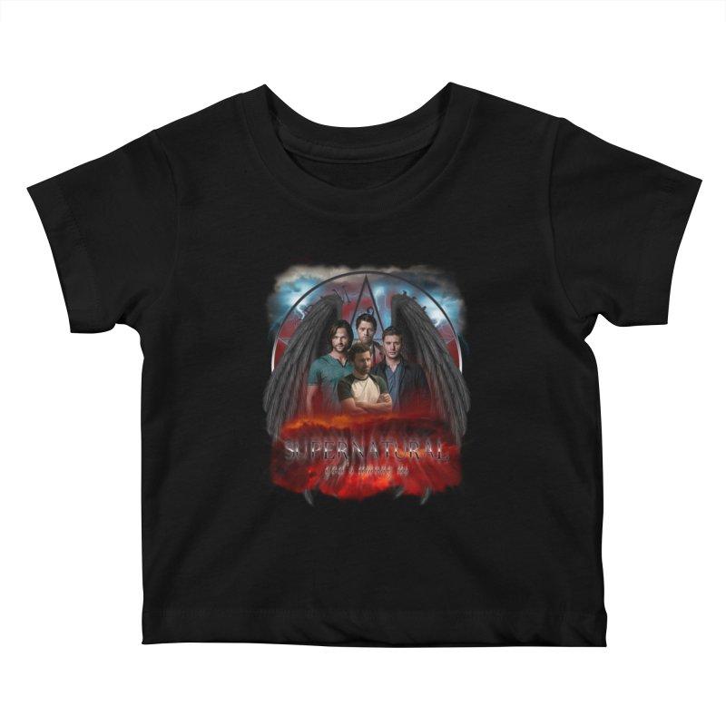 Supernatural Gods Among us 2 Kids Baby T-Shirt by ratherkool's Artist Shop