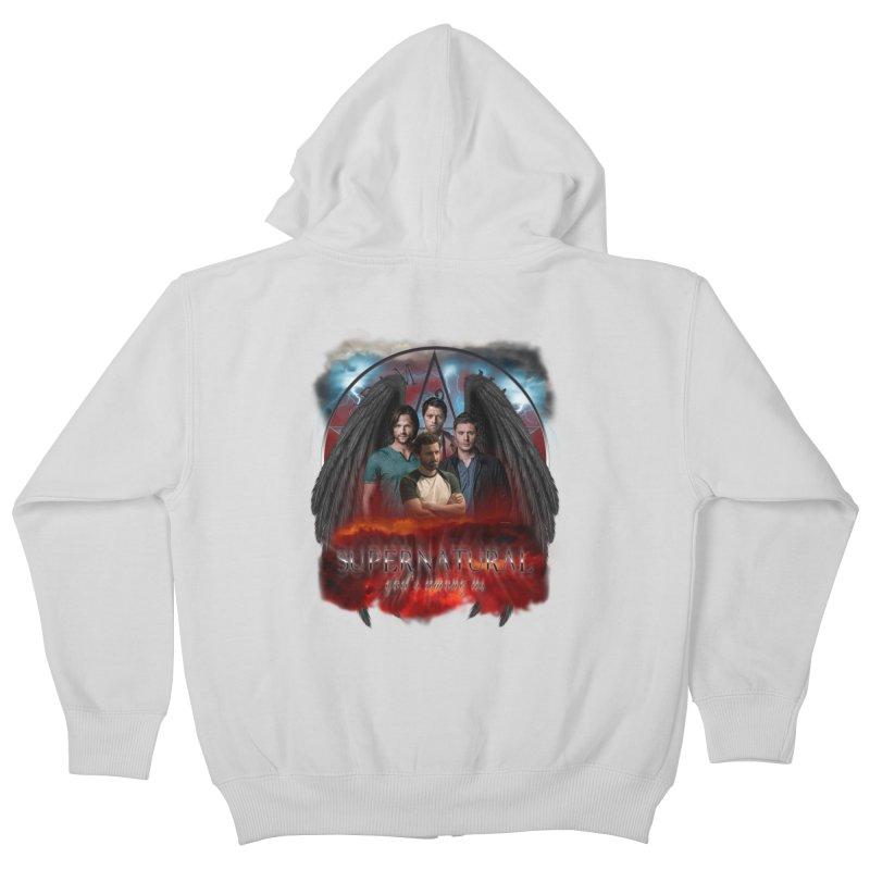 Supernatural Gods Among us 2 Kids Zip-Up Hoody by ratherkool's Artist Shop