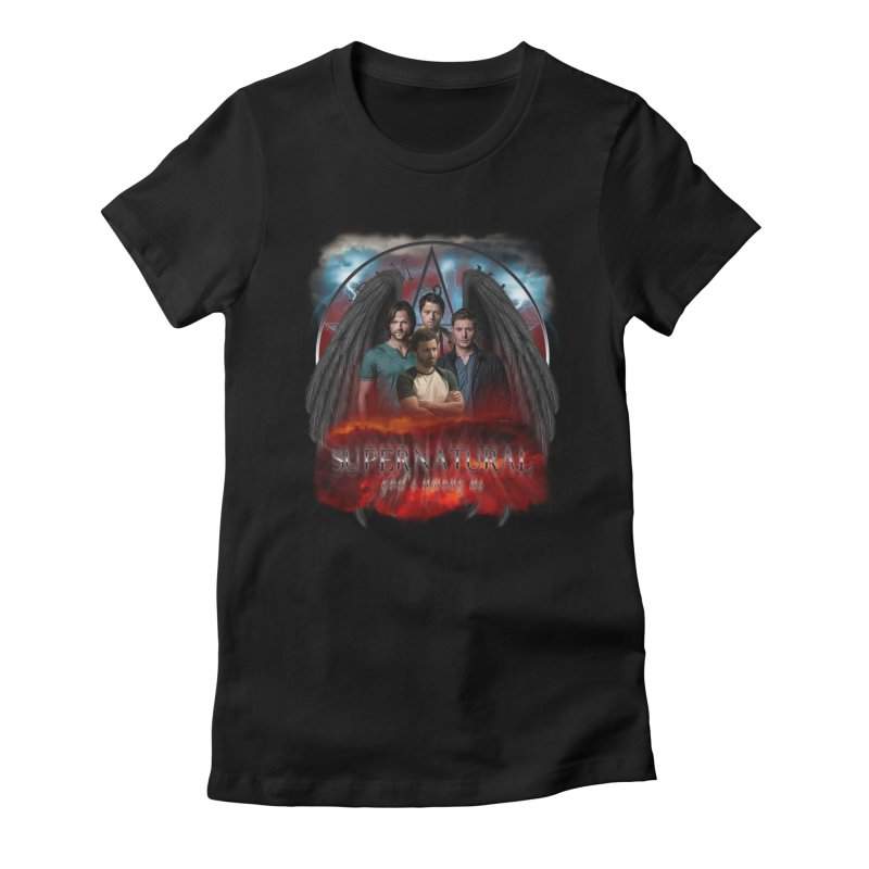 Supernatural Gods Among us 2 in Women's Fitted T-Shirt Black by ratherkool's Artist Shop