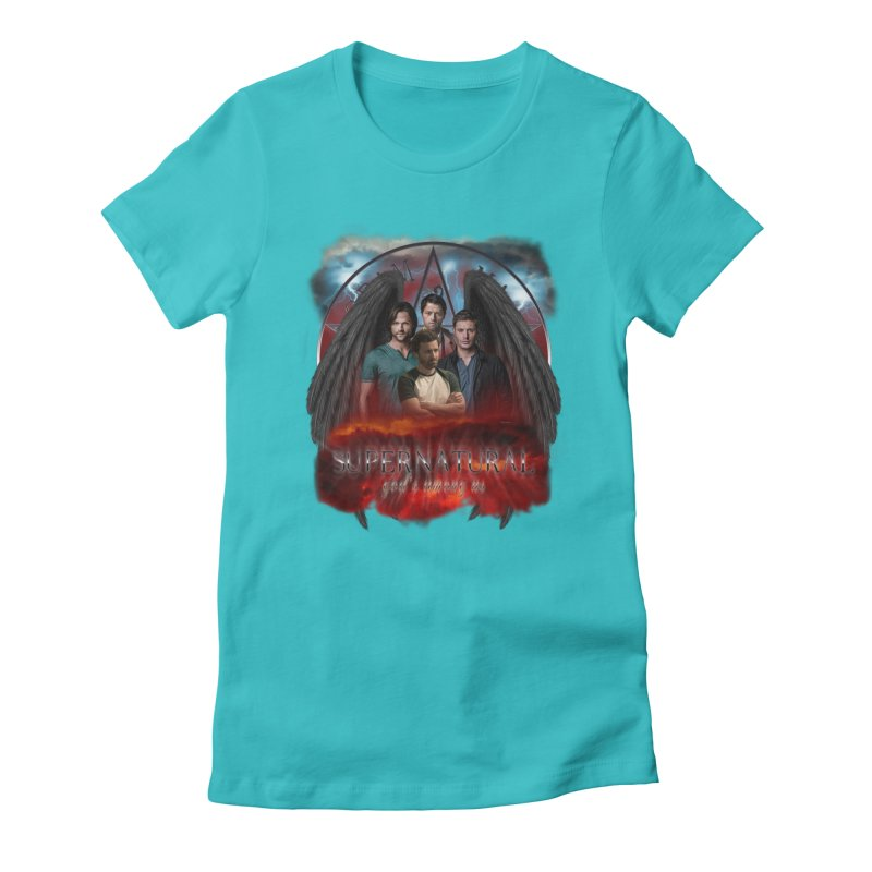 Supernatural Gods Among us 2 Women's Fitted T-Shirt by ratherkool's Artist Shop