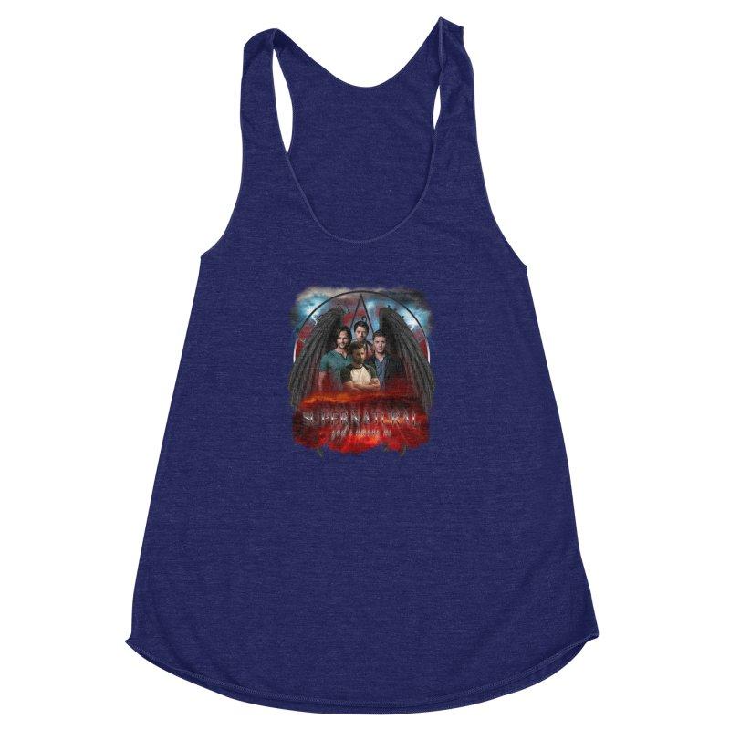 Supernatural Gods Among us 2 Women's Racerback Triblend Tank by ratherkool's Artist Shop