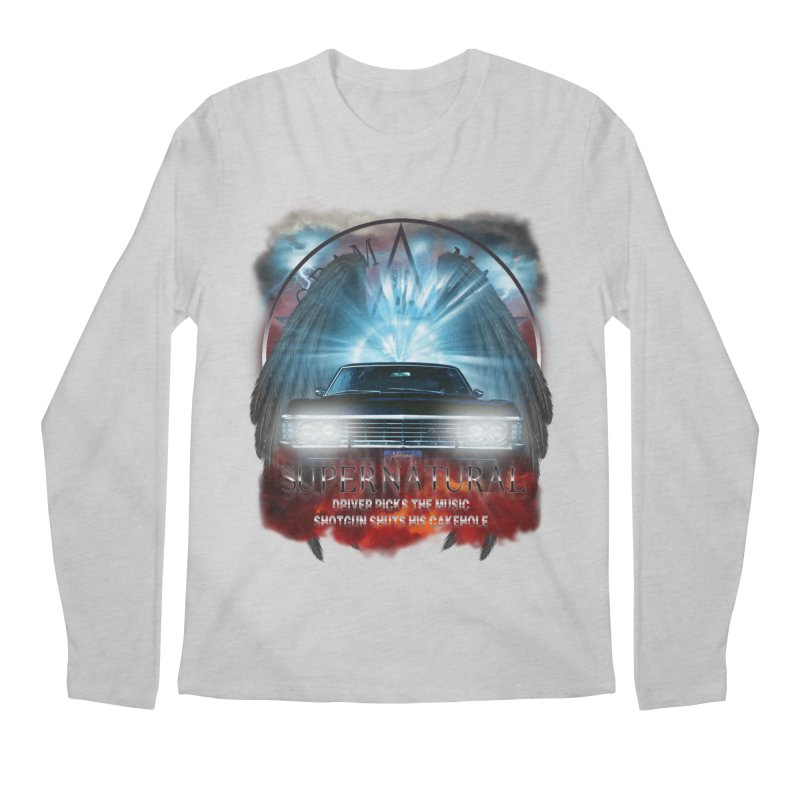 Supernatural Driver picks the music shotgun shuts his cakehole Darkness 2 Men's Longsleeve T-Shirt by ratherkool's Artist Shop