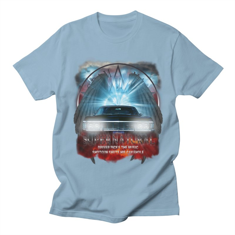 Supernatural Driver picks the music shotgun shuts his cakehole Darkness 2 Men's T-Shirt by ratherkool's Artist Shop
