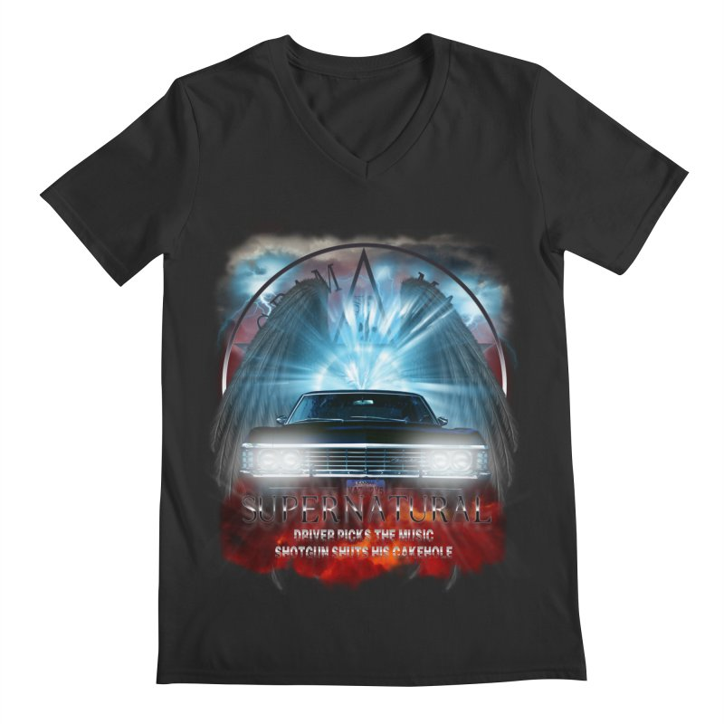 Supernatural Driver picks the music shotgun shuts his cakehole Darkness 2 Men's V-Neck by ratherkool's Artist Shop