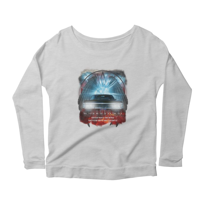 Supernatural Driver picks the music shotgun shuts his cakehole Darkness 2 Women's Longsleeve Scoopneck  by ratherkool's Artist Shop