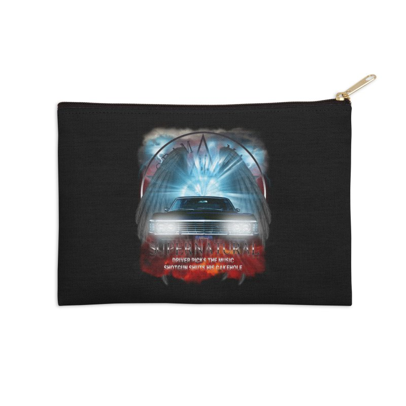 Supernatural Driver picks the music shotgun shuts his cakehole Darkness 2 Accessories Zip Pouch by ratherkool's Artist Shop